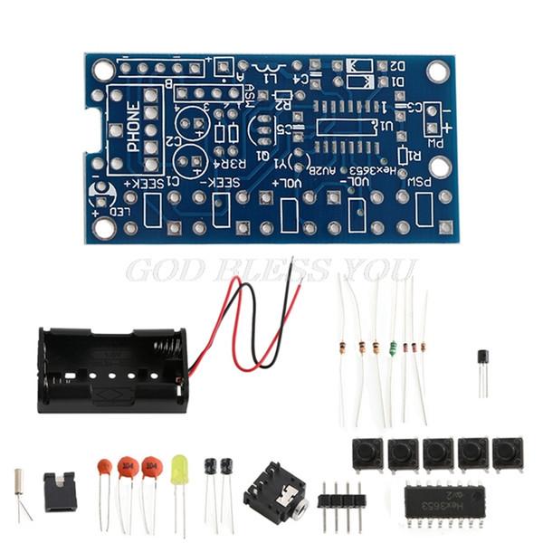 Kablosuz Stereo FM Radyo Alıcısı PCB Modülü DIY Elektronik Kitleri 76 MHz-108 MHz