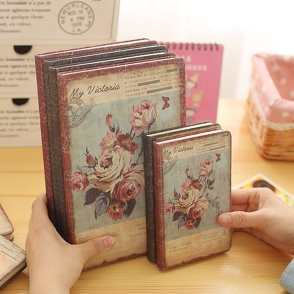 Agenda 2019 Notebook Vintage Flowers European Style Diary Weekly Monthly Planner School Stationery Office Gifts Notepad