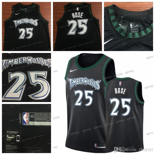 newest 8cc28 d4bc6 2019 Men Basketball Jersey Retro Timberwolves #25 Derrick Rose Stitched  2018 19 Hot Sale Black Top Jerseys From Vuuq, $20.78   DHgate.Com