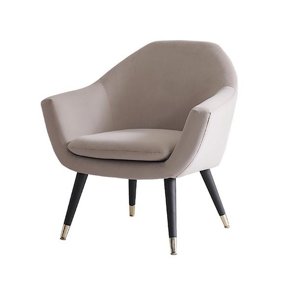 Tapizados Accent sola silla del brazo del sofá, mediados del siglo moderno cómodo franela de tela, madera Marco De Madera