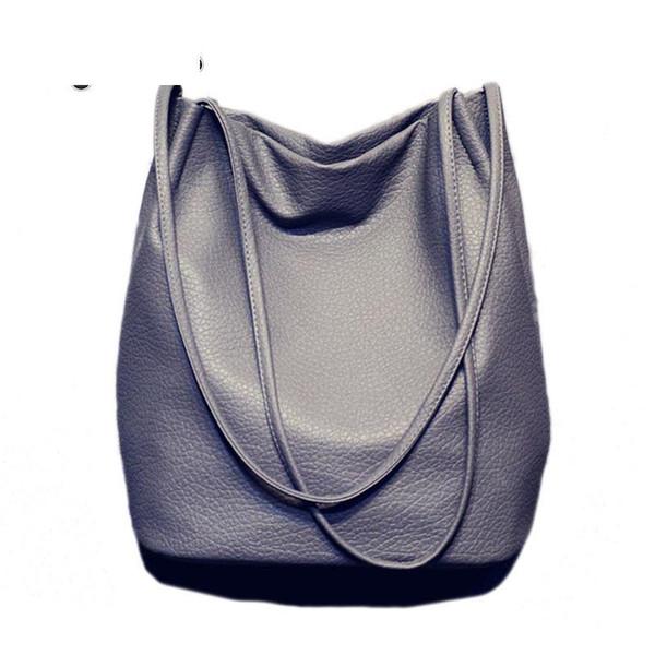 Sıcak Tasarımcı Kadın Deri Çanta Büyük Kapasiteli Bayanlar Alışveriş Çantası Bolsa Siyah Kova Omuz Çantaları Bayanlar Çapraz Vücut Çanta