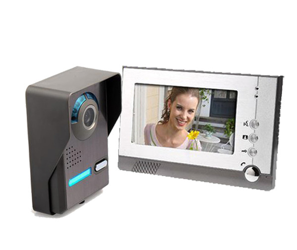 "YoBang Security Free Shipping 7"" LCD Video Door Phone Intercom System with 1 Night Vision IR Camera 1 Monitor Rainproof"