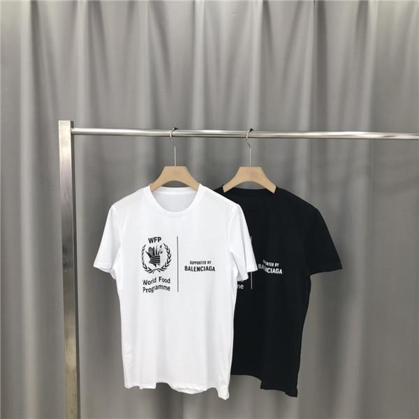 Diseño SS de lujo París Marcas camiseta de manga corta cuello redondo de los hombres respirables de las mujeres amantes de la moda de Calle Torre de hierro al aire libre camiseta