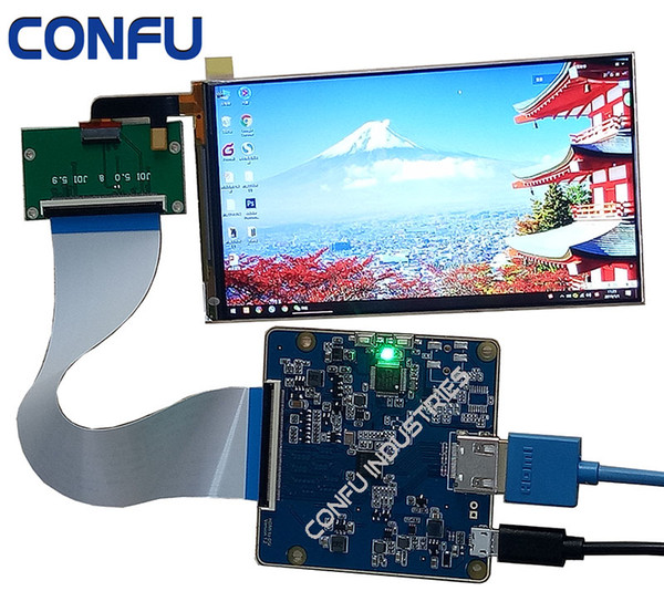 Confu Hdmi to Mipi driver board 1080*1920 TFT lcd display 5 inch 1080P IPS Lcd-scherm for VR Headset Virtual Reality
