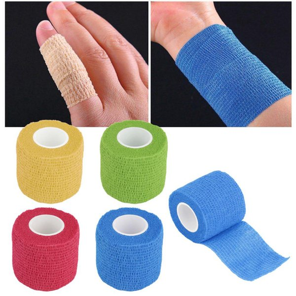Self-Adhering Bandage Wraps Elastic Adhesive First Aid Tape Stretch 5cm*4.5m Color Non-woven Self-adhesive Bandage Tattoo Bandage ZZA536