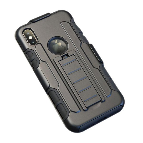 For iPhone X 7 8 6S Plus Future Armor Impact Hybrid Hard Case Cover + Belt Clip Kickstand Stand Combo