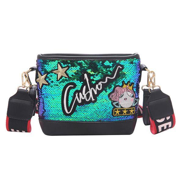 Bags For Women 2019 Fashion Multicolor Shoulder Bags Sequins Shining Messenger Bag Letter Chains Wild Beach Bag Bolsa Feminina
