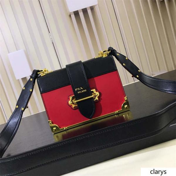 2019Prada bicolor cahier Tasche 1BD045 V XCH 2BB0 Cahier Umhängetasche Tasche Stadt Kalb und Saffiano Leder Kleine Schultertasche Größe: 20 * 14,5 * 8,5 cm