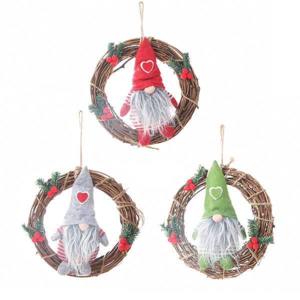 New Home Ornament 2020.New 2020 New Year Decor Xmas Wreath Doll Hanging Garlands Ornaments Christmas Decorations For Home Noel Navidad 2019 Diy Crafts Discount Christmas