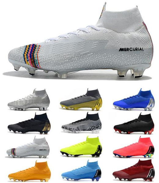 Mercurial Superfly VI 360 Elite FG KJ 6 XII 12 CR7 Mens Soccer Cleats Ronaldo Neymar High Heel Soccer Shoes ACC Football Boots