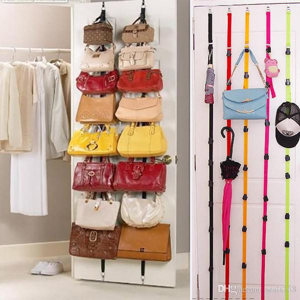 Ayarlanabilir Depolama Tutucular Ve Çanta Giyim Için Kapı Sonra Kapı Asılı Çanta Kanca Raf Halat Kordon Kutusu Paketi HH7-1025
