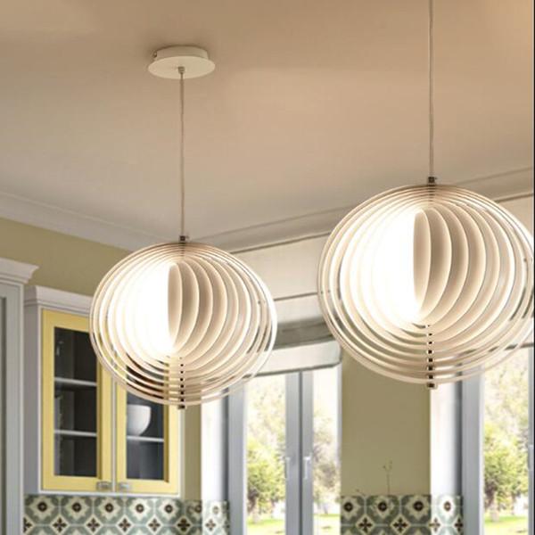 New Hot Vertigo Pendant Lamp Bar Kitchen Bedroom Restaurant Lighting  Suspension Vertigo Art Decor Rotatable Lampshade Moon Light Fixture Kitchen  ...