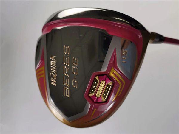 Honma S-06 Driver Honma S06 Golf Driver Mujeres Clubes de golf 11.5 Loft Lady Flex Eje de grafito con cubierta para la cabeza