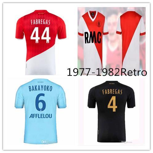 futbol de 1977-1982 Retro AS Monaco Futbol Jersey Nouvelle 2020 2019 monaco 19 20 FALCAO LEMAR Jovetiç maison CARRILIO LOIN tişört 3EME