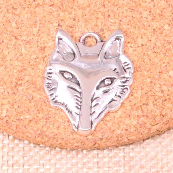 48pcs antique ruban tête de loup charme pendentif bricolage collier bracelet bracelet conclusions 31 * 24mm
