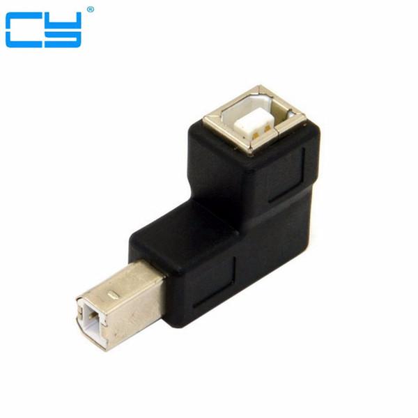 USB 2.0 B male to female 90 degree angled printer scanner Adapter converter