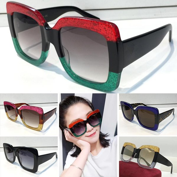 d895f609762 gucci gg0083 Designer 0083 Mulheres Popular Designer de Óculos De Sol  Quadrados Estilo Verão para as