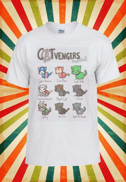 Catvengers Marvel Comic Cat Kitten Men Women Vest Tank Top Unisex T Shirt 1794 2019 hot tees Top Summer 'S fashion T Shirt cheap wholesale