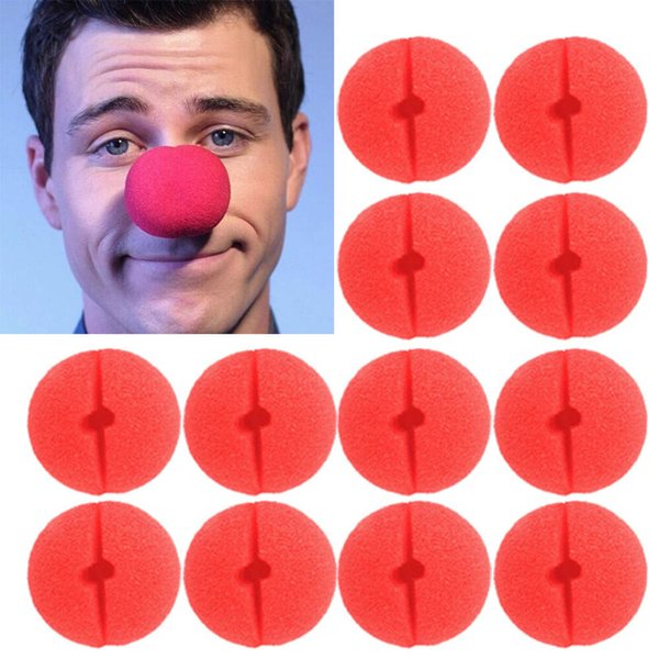 Fun Foam Clown Nose Circus Party Comic Christmas Halloween Costume Favor Supplies Decorations Red 200pcs/Lot