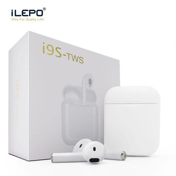 I9 البسيطة i9s tws سماعات بلوتوث اللاسلكية تلح سماعات ستيريو سماعة لاسلكية سماعات مع شاحن eagnetic حالة سيليكون حامي