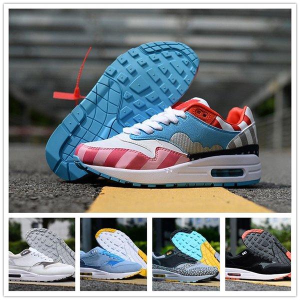 Hommes Femmes d'origine 87 1 Designer Shoes Chaussures 87 Un homme respirant Chaussures de sport New Outdoor Homme Sport Formateurs Zapatos EUR36-45