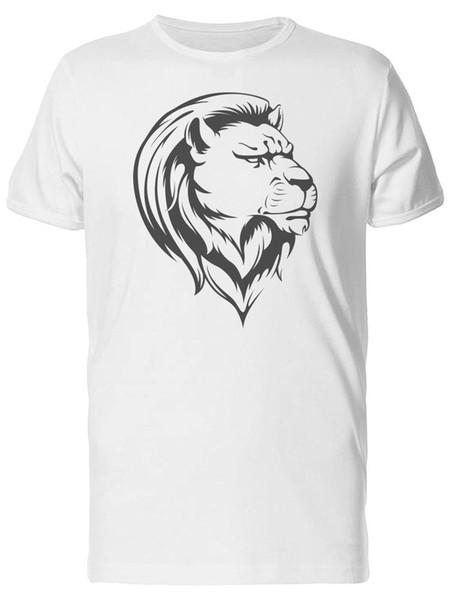 Панк Лев портрет мужская футболка-Image by Fashion