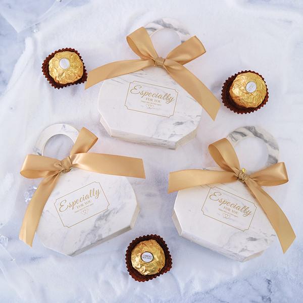 Nuovo creativo marmorizzazione di caramella di Regali di nozze Scatola per Guest feste acquazzone di bambino favorisce Chocolate Box Package