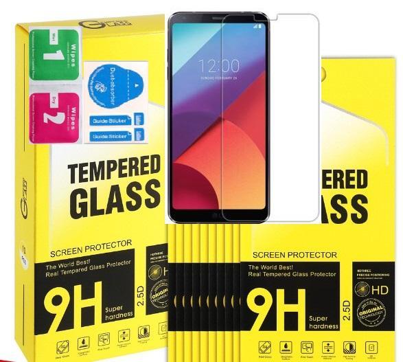 Temperli Cam Ekran Koruyucu Flim Için iPhone Xs Max XR X 8 7 6 Artı Samsung A10 A20 A30 A40 A50 A60 A70 A80 A80 J6 J8 LG Stylo 4 J4 J6 perakende