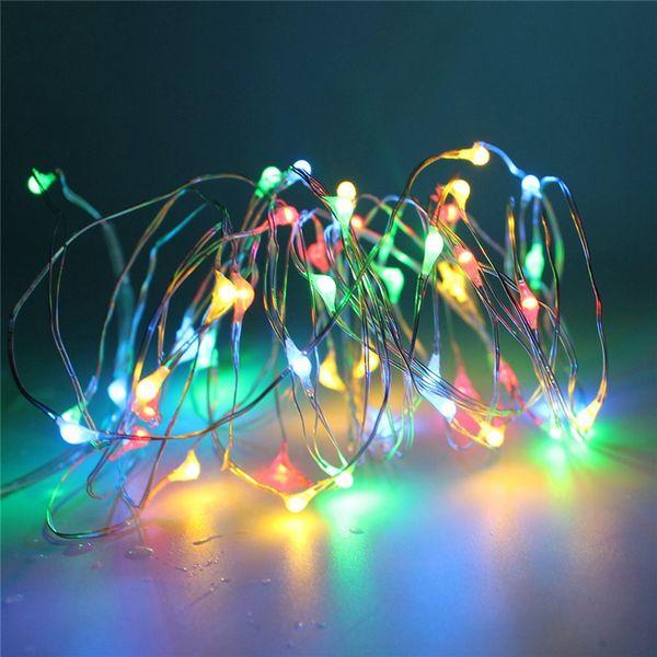 Vente en gros Argent LED USB String Lights 10M 100Leds IP65 étanche avec télécommande éclairage de fée pour les vacances