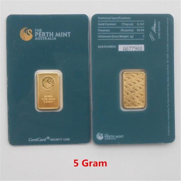 5 Gram Green Gold Bar