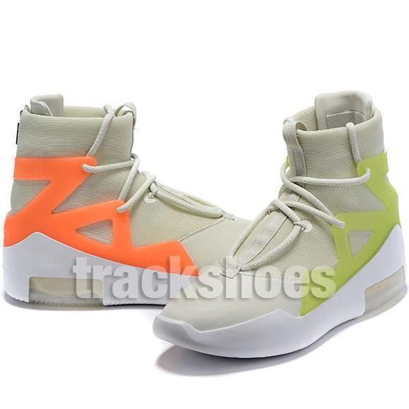 Fear Of God Mens Scarpe da ginnastica di alta qualità Fashion Designer Green Orange Pulse Yellow 1s Allenatore Light Bone Black Sneakers Wrestling Shoes
