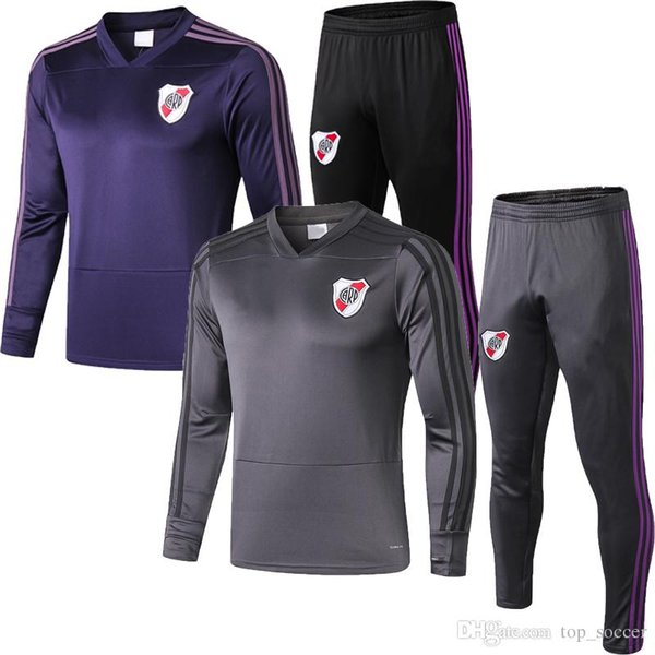 new 2019 2020 Riverbed Long Sleeve Jersey BORRE G.MARTINEZ Windbreaker Football Training Suit Jacket Appearance Clothing Leg Pants Set