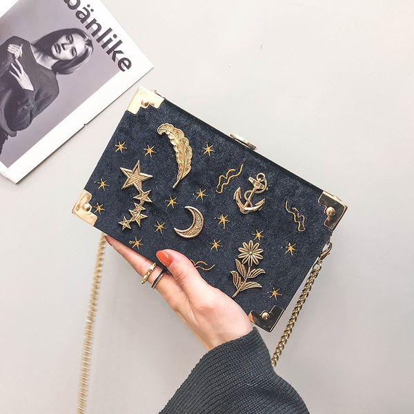 Frauen Fashion Square Box Bag Kette Mini Umhängetaschen Handtaschen und Geldbörsen Damen Crossbody Taschen Clutch Bolsas Femininas