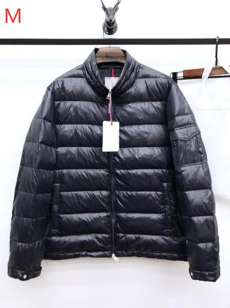 2019 Hot Winter internationale Marke M-Serie Arm Stickerei Tasche, modische wasserdichte warme Männer Daunenjacke, plus Größe M ~ 3XL, 4 Farben
