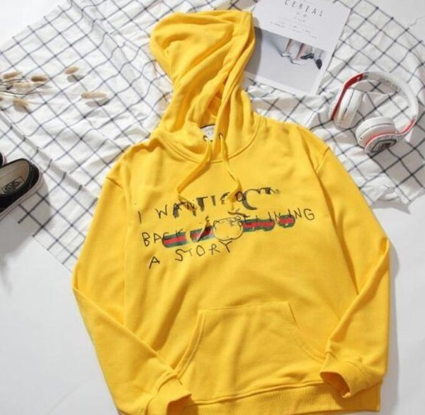 19ss новая мода мужчины и женщины шерсть повседневная LOOG спорт толстовка с капюшоном логотип граффити свитер с длинными рукавами унисекс пальто
