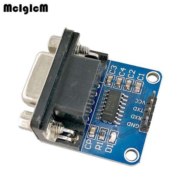 100 pcs MAX3232 RS232 para TTL Módulo Conversor de Porta Serial DB9 Conector MAX232 freeshipping