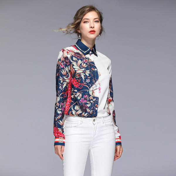 new hot spring wholesale runway Lapel neck Long sleeves Button Shirt skirt suit