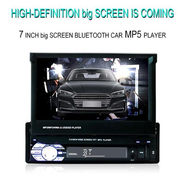 Récepteur stéréo voiture 1din Radio Audio Bluetooth avec écran 7