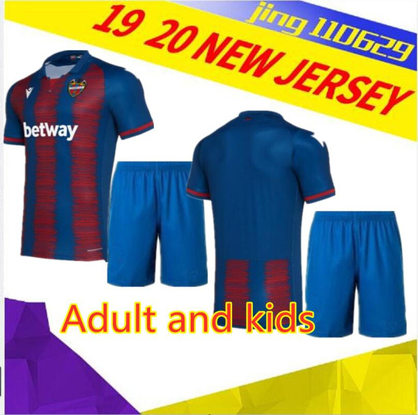 best selling 19 20 Levante UD soccer jerseys Adult and kids 2019 2020 CAMISETAS Levante #11 A.J.Morales #9 Roger MS. #10 Bardhi #24 J Campaña FOOTBALL S