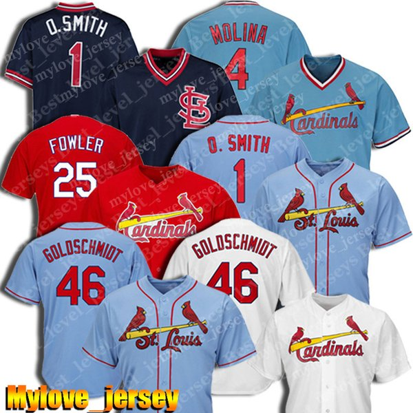 46 Paul Goldschmidt Jersey St. Louis Baseball Cardinals Jersey 25 Dexter Fowler Jerseys 4 Yadier Molina Jerseys 1 Ozzie Smith Cheap