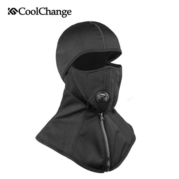 CoolChange Winter Radfahren Gesichtsmaske Kappe Ski Bike Maske Thermal Fleece Snowboard Schild Hut Kalte Headwear Fahrrad Trainingsmaske