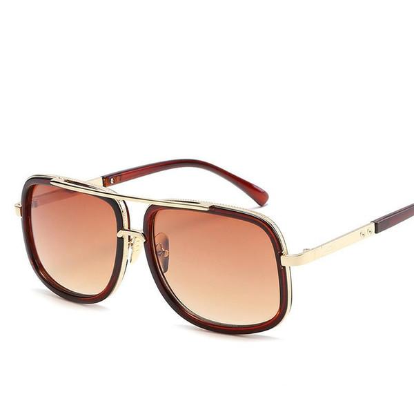 Marca de design homens óculos de sol do vintage duplo-ponte de condução  masculino óculos de sol espelho óculos de sol das mulheres homens óculos de  sol ... 2f2b263662