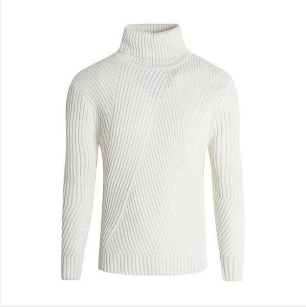 Herren Pullover, grauweiß, L