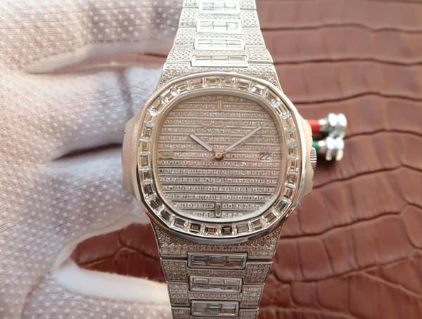MC 18k relógio de diamantes de ouro 2824 movimento de máquinas automáticas relógios à prova d 'água e resistente ao suor relógios de designer de vidro de safira