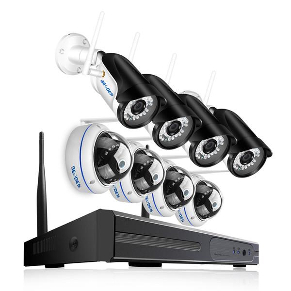 BESDER 8CH Full 1080P WI-FI система видеонаблюдения 4 Уличная камера Bullect 4 Внутренняя купольная камера 1080P P2P Беспроводной комплект NVR Plug and Play