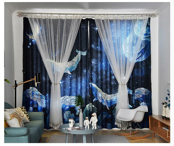 2019 Feather Lace Curtains Semi Transparent Light Yarn Double Curtain  Living Room Floating Curtain Nordic Bedroom Pastoral Style Curtain Cloth  From ...