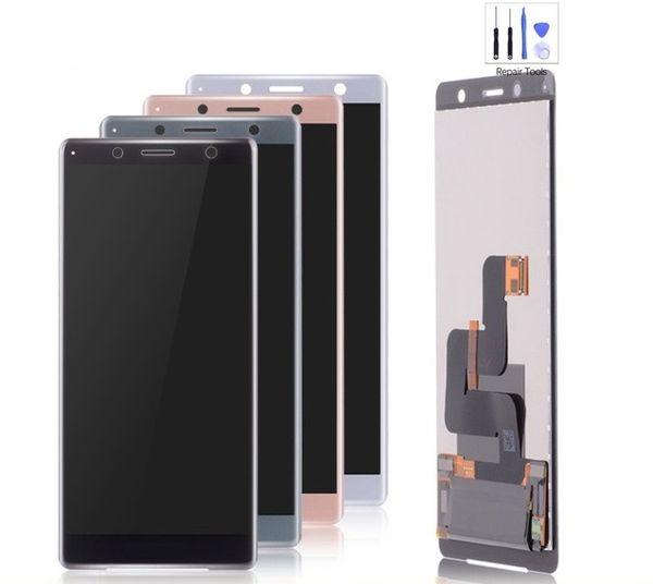 100% Test Sony 5.0 Sony Xperia Için Kompakt LCD Ekran Sony XZ2 Mini LCD Için Dokunmatik Ekran Digitizer Meclisi Değiştirme