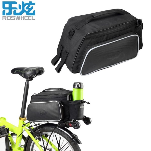 pannier bicycle ROSWHEEL Bike Carrier Bag Rear Pack Trunk Pannier Bicycle Rear Seat Cycling Luggage Bag 10L Leather Pouch