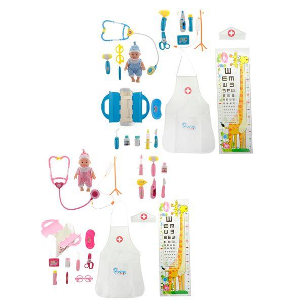 Enfants Jouets Simulation Baby Doll Doctor Toys Faire semblant de Jouer Ensemble Médical avec Stéthoscopes Pour Baby Doll Doctor Role Play Playsets