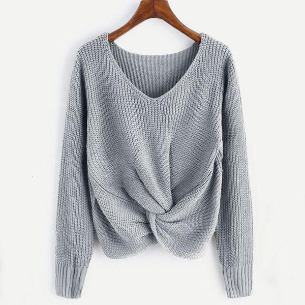 Designer Sweater Mulheres Camisolas Femme Pull Hiver blusas manga comprida cor sólida Sexy atado camisola Plus Size Roupa Feminina